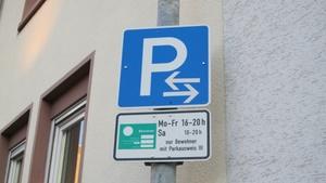 Hinweisschild zum Anwohnerparken.