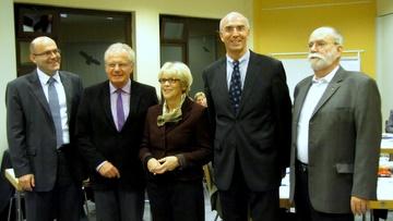 v.l.n.r.: Axel Vogt, BM Herbert Hunkel, Eva Dude, Thomas Russ und Gerhard H. Gräber