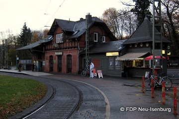 Waldbahnstation Neu-Isenburg.