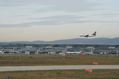 Frankfurter Flughafen.