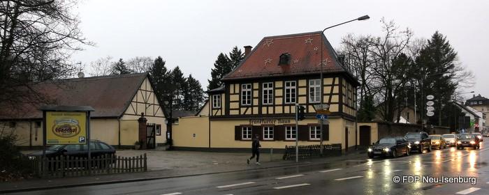 Frankfurter Haus in der Darmstädter Landstraße.