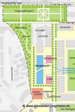 Teilansicht des FDP-Entwurfs für das Stadtquartier Süd