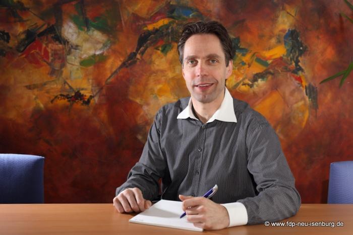 Andreas Frache, Stadtrat und Schatzmeister der FDP Neu-Isenburg.