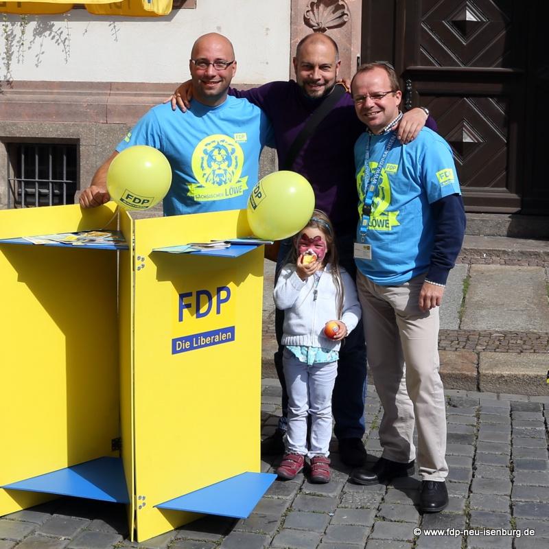v.l.n.r.: Thomas Grahl (FDP Leipzig), Alexander Jungmann (stellv. Vorsitzender, FDP Neu-Isenburg) und René Hobusch (Stadtrat, FDP Leipzig)