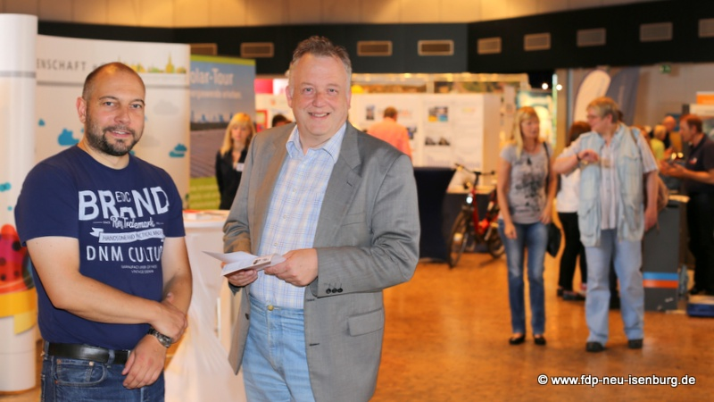 Alexander Jungmann (li.), FDP Neu-Isenburg und Dr. Günter Gericke (re.), FDP Dreieich.