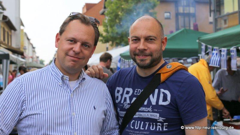 v.l.n.r.: Thilo Seipel und Alexander Jungmann (beide stellv. Ortsvorsitzende).