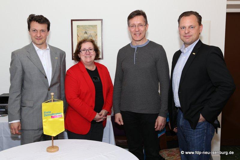 v.l.n.r.: Jörg Müller, Annette Greilich, Elvis Ness, Thilo Seipel.