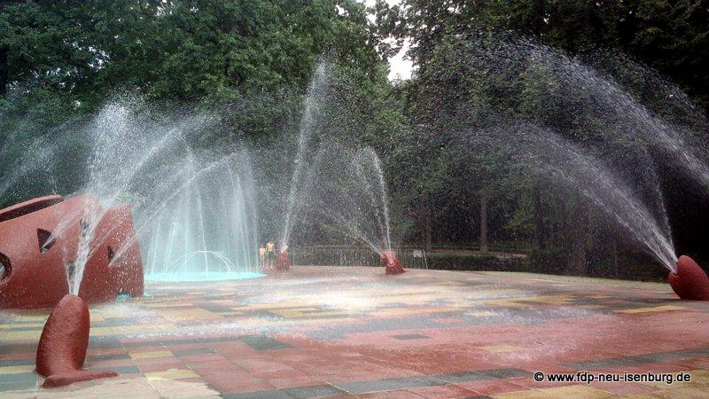 Wasserspiele im Tannenwald