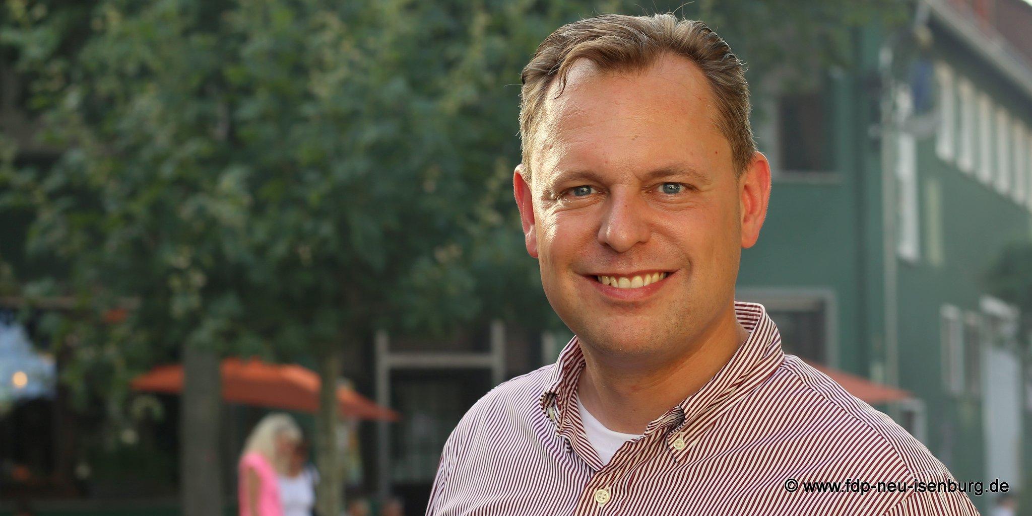 Thilo Seipel, Spitzenkandidat der FDP Neu-Isenburg zur Kommunalwahl.