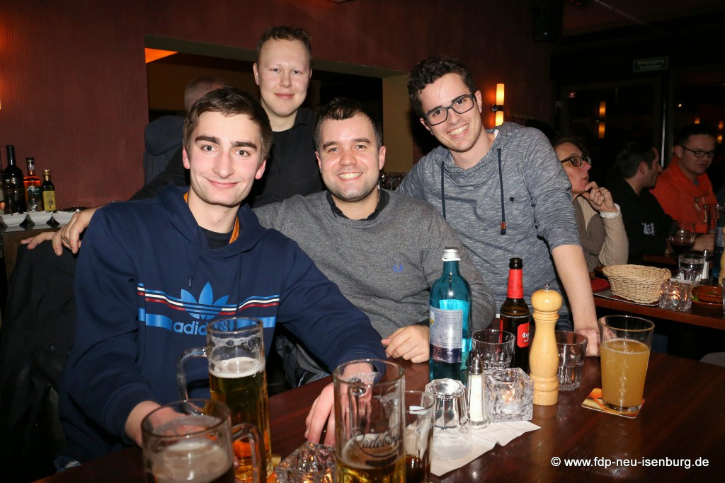 v.l.n.r.: Maximilian Turrek, Matrin Simke, Daniel Wilkening, Felix Walter.