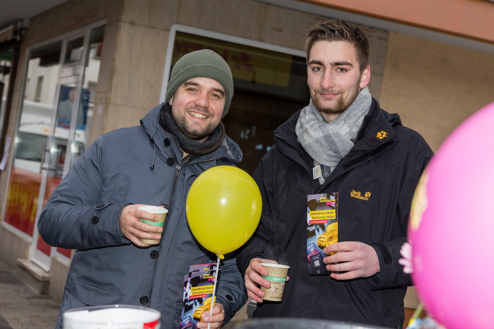 Daniel Wilkening und Maximilian Turrek (von links).