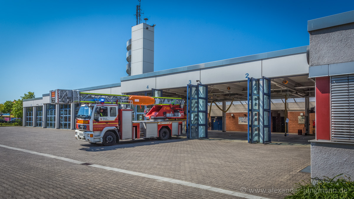 Feuerwehrstützpunkt in der Florianstraße.