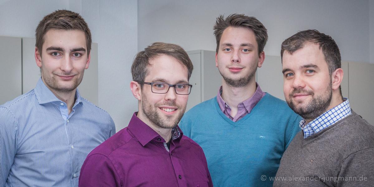 v.l.n.r.: Maximilian Turrek, Dario Clos, Luka Sinderwald und Daniel Wilkening