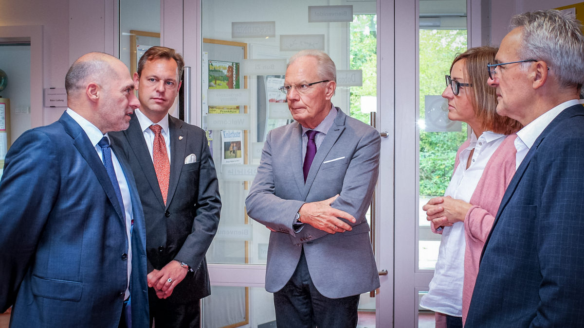 v.l.n.r.: René Rock, Thilo Seipel, Herbert Hunkel, Angelika Diroll und Bernd Pufahl.