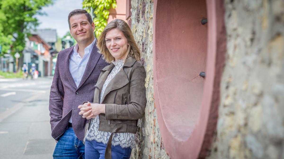 JuLi-Ortsvorsitzender Simon Gröpler und stellv. Vorsitzende Lisa Schmitz.