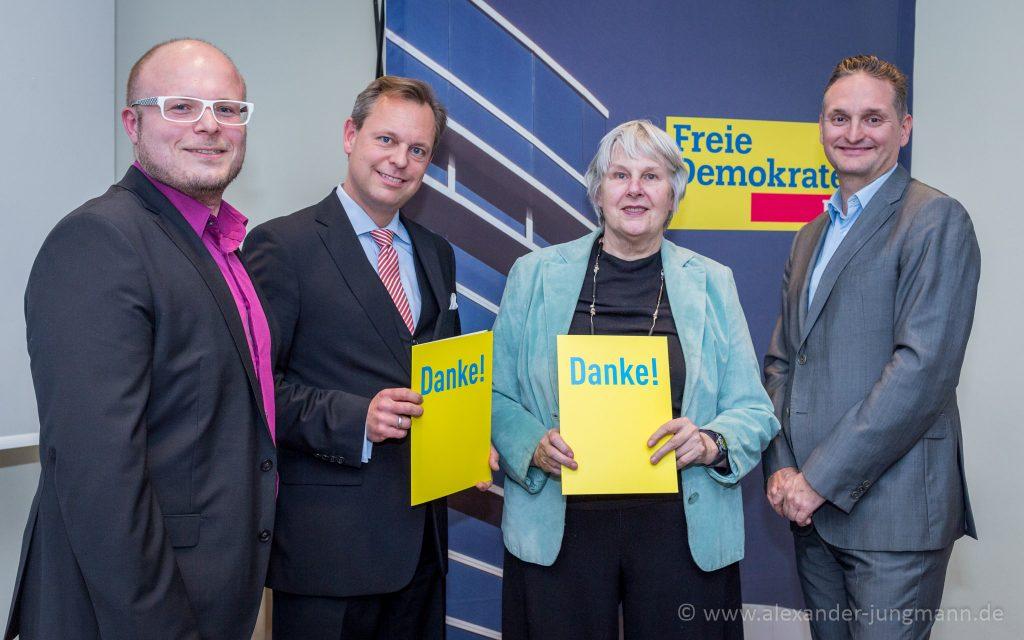 v.l.n.r. Dirk Stender, Thilo Seipel, Mechthild Voigt sowie Oliver Stirböck