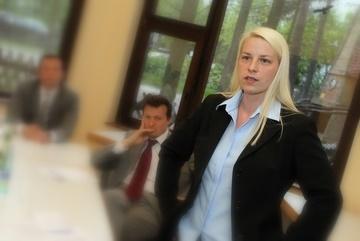 Susann Guber, bei der Erläuterung ihrer politischen Ziele.