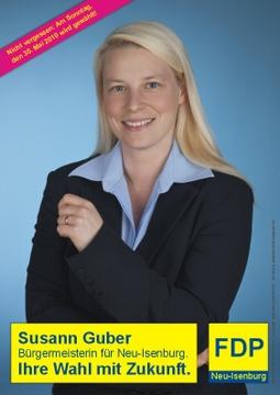 Wahlplakate von Susann Guber zur Bürgermeisterwahl.