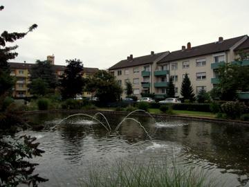 Wohnanlagen der Gewobau am Andreas-Löber-Platz.