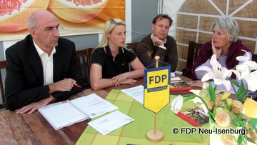 v.l.n.r.: Thomas Russ, Susann Guber, Thilo Seipel und Mechthild Voigt.
