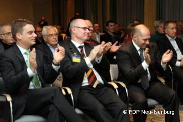 Begeisterte Zuhörerschaft während des Herbstgespräches der FDP Neu-Isenburg.