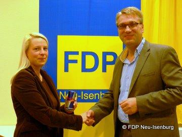 Susann Guber (Fraktionsvorsitzende)  und Eino Tank