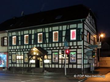 "Restaurant ""Goldener Apfel"" in Neu-Isenburg."