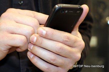 Smartphone im Einsatz.