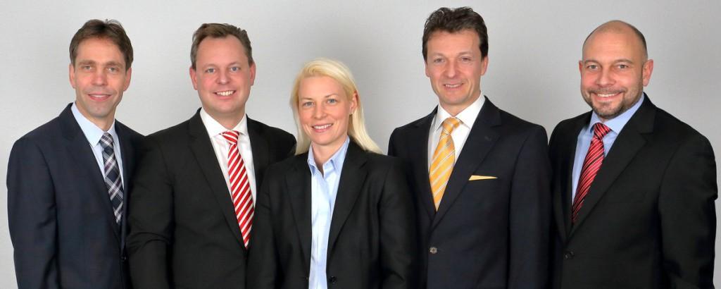 v.l.n.r.: Andreas Frache, Thilo Seipel, Susann Guber, Jörg Müller und Alexander Jungmann