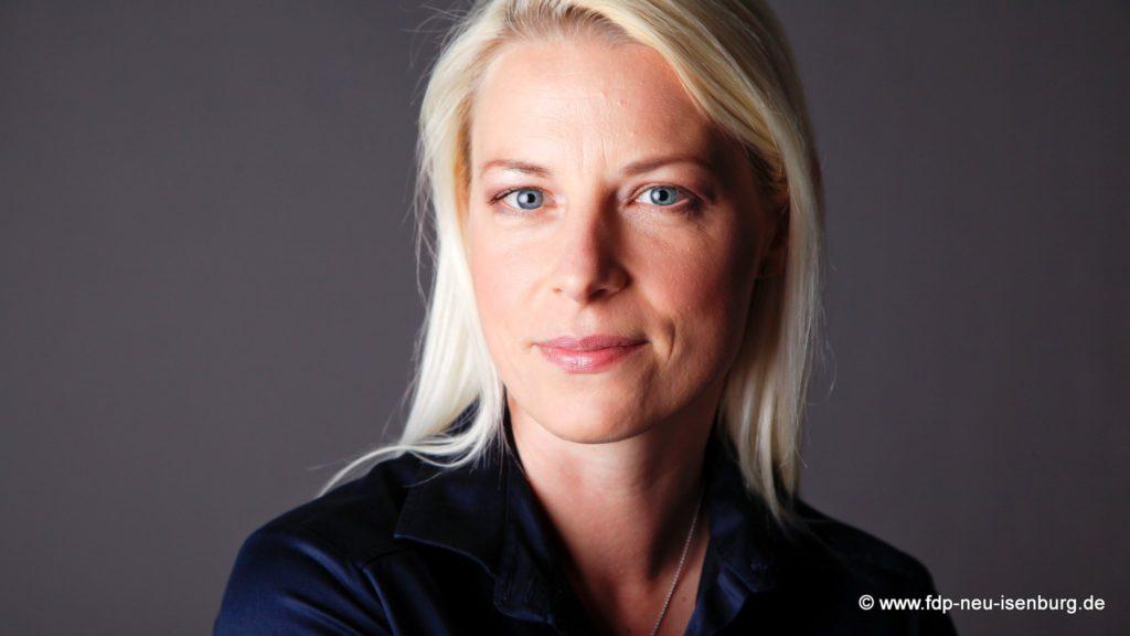 Vorsitzende der FDP Neu-Isenburg, Susann Guber.