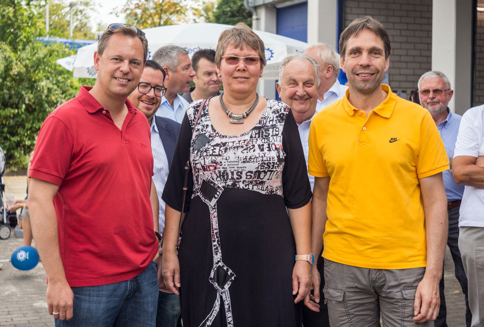v.l.n.r.: Thilo Seipel (Fraktionsvorsitzender), Maike Burchards und Andreas Frache (Stadtrat)