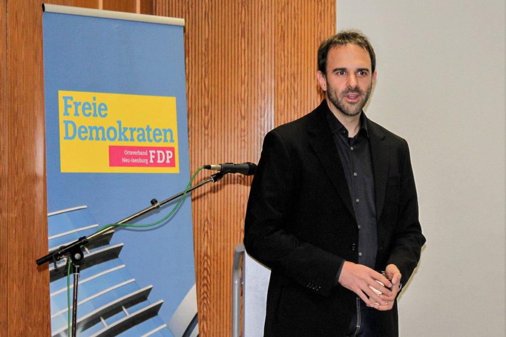 Christian Meyer bei seinem Vortrag