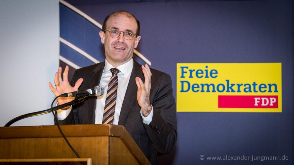 Prof. Dr. Frank Schorkopf bei seinem Vortrag.