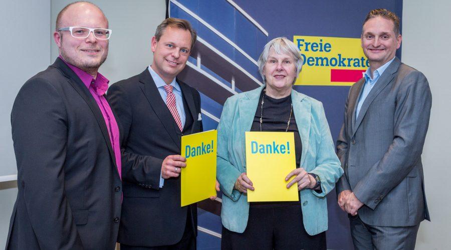 v.l.n.r. Herrn Dirk Stender, Herrn Thilo Seipel, Frau Mechthild Voigt, sowie Herrn Oliver Stirböck