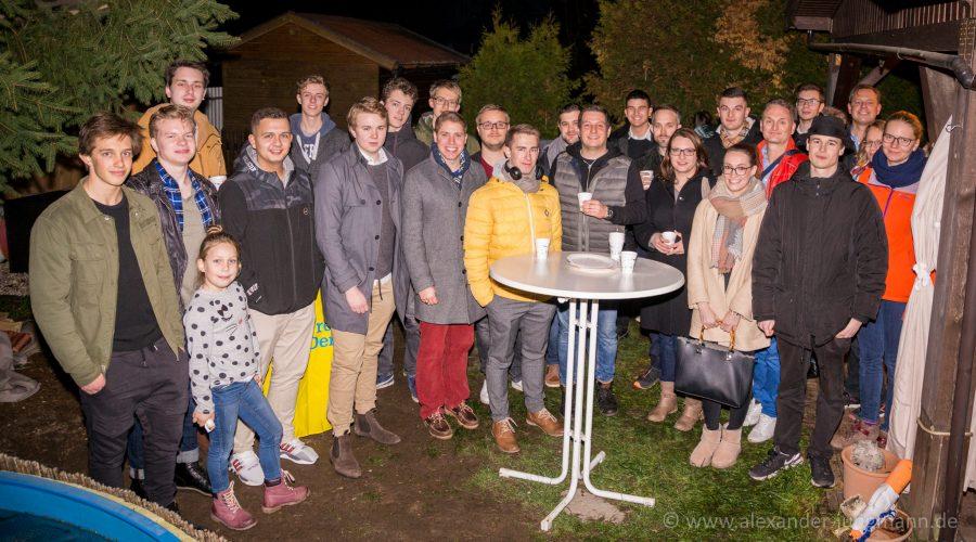 Feiergesellschaft zur Weihnachtsfeier der Jungen Liberalen in Neu-Isenburg