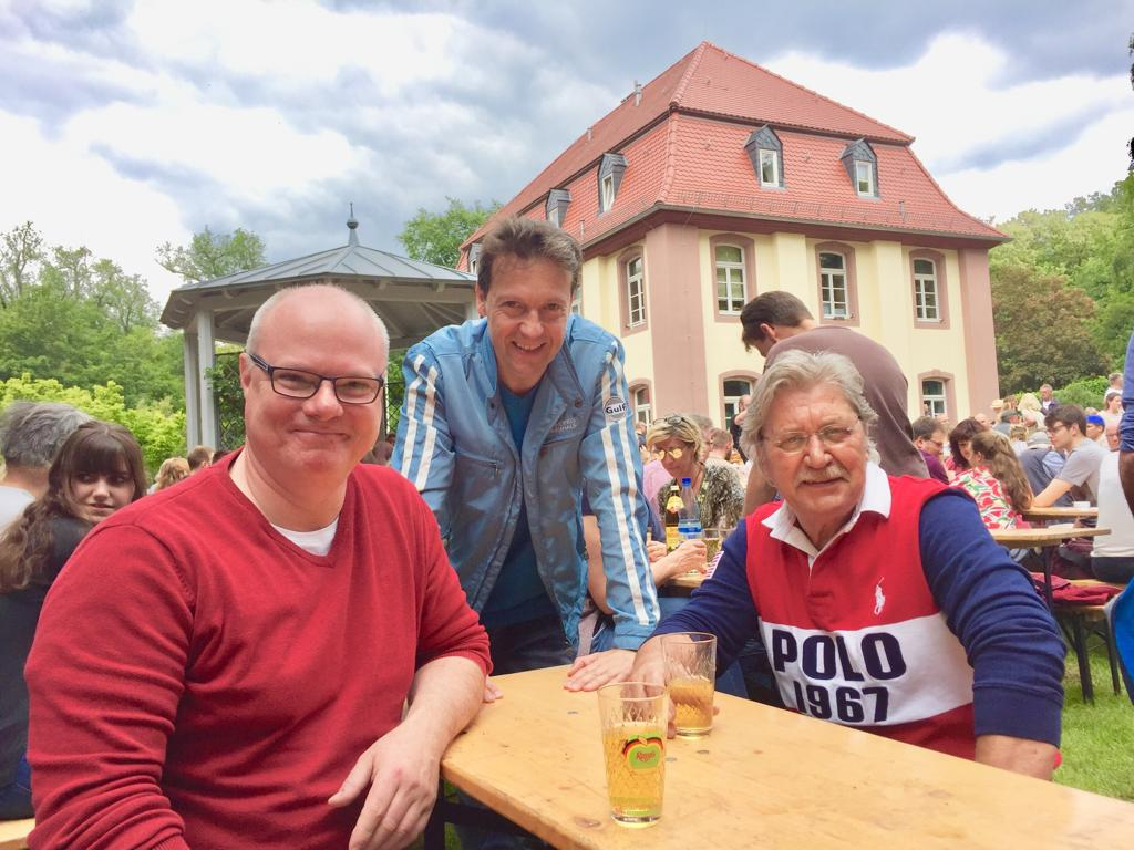 FDP beim Backfischfest; Karl-Richard Krüger, Jörg Müller und Rolf Scholibo (v.l.n.r.).