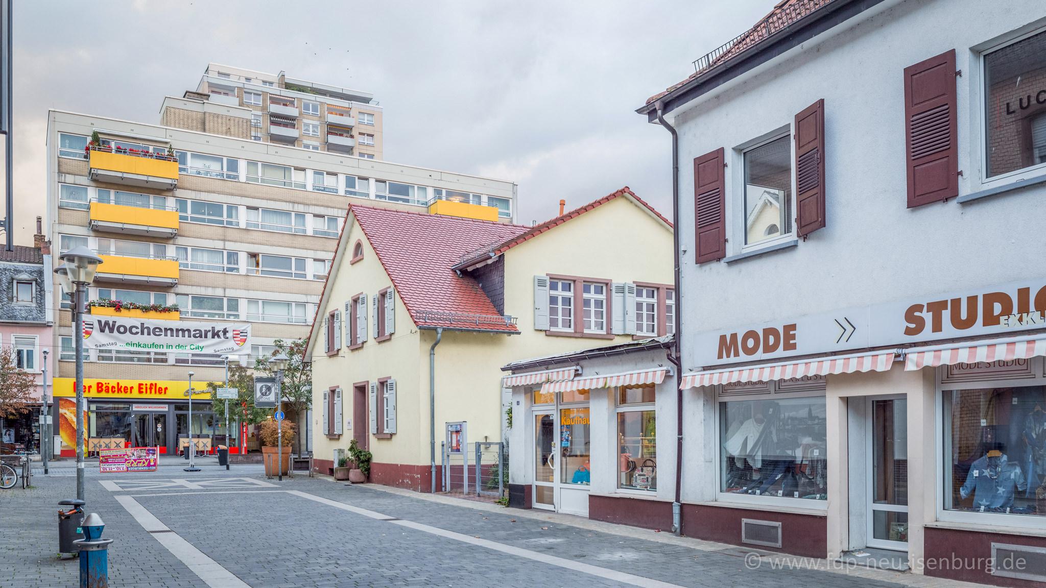 Fußgängerzone in der Bahnhofstraße