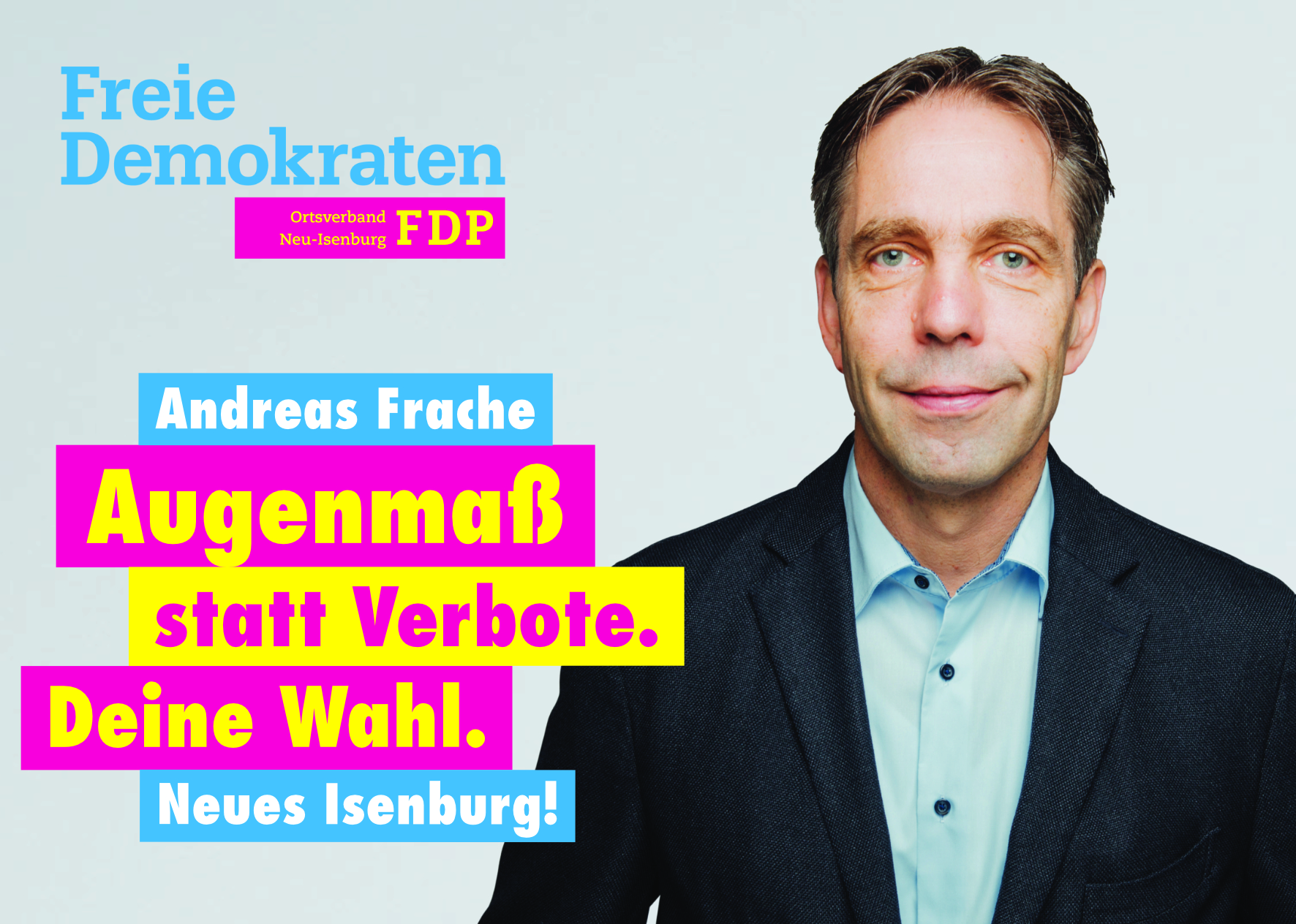 Andreas Frache, Listenplatz 5. zur Kommunalwahl am 14. März 2021 in Neu-Isenburg.