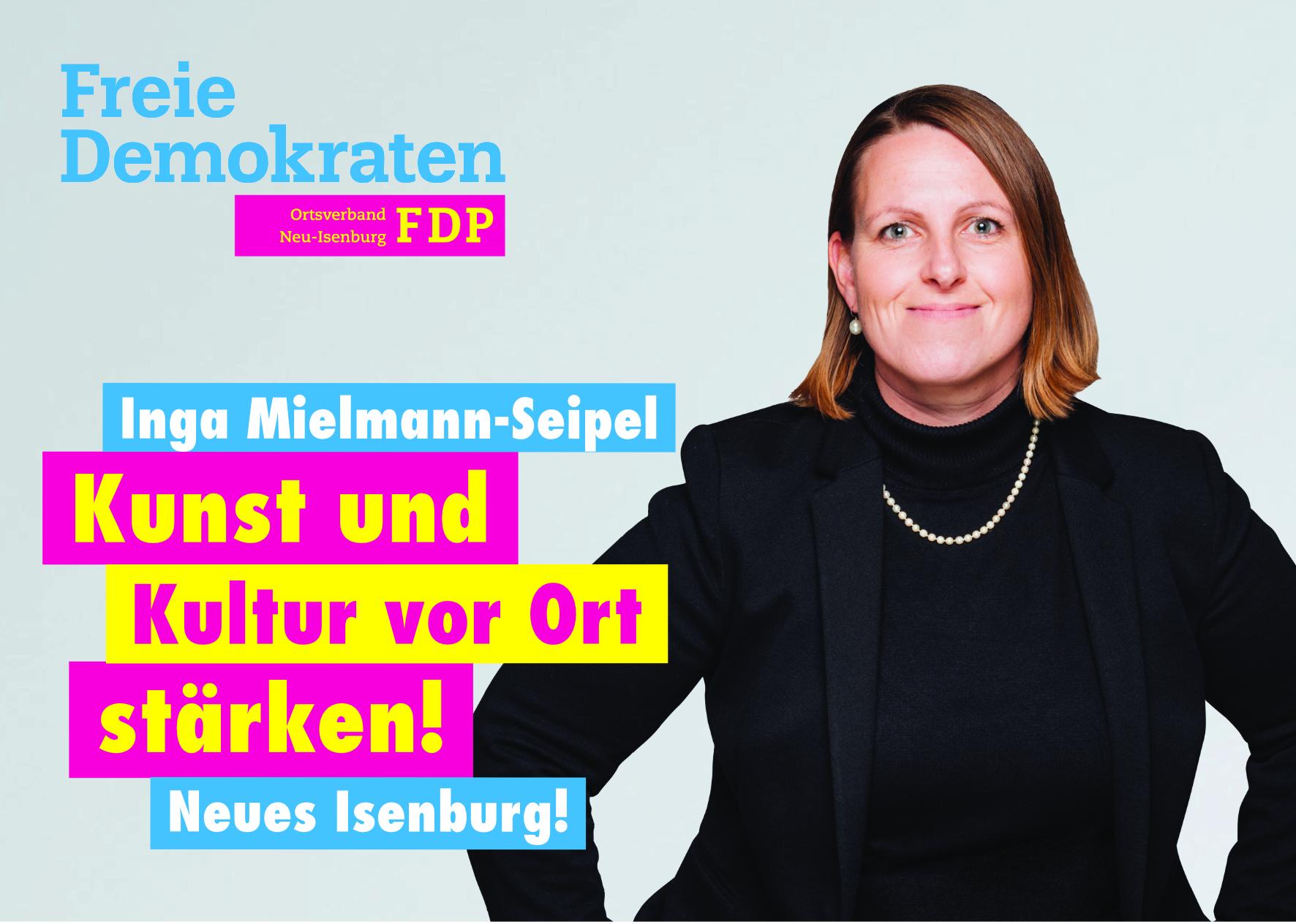 Inga Mielmann-Seipel, Listenplatz 10. zur Kommunalwahl am 14. März 2021 in Neu-Isenburg.
