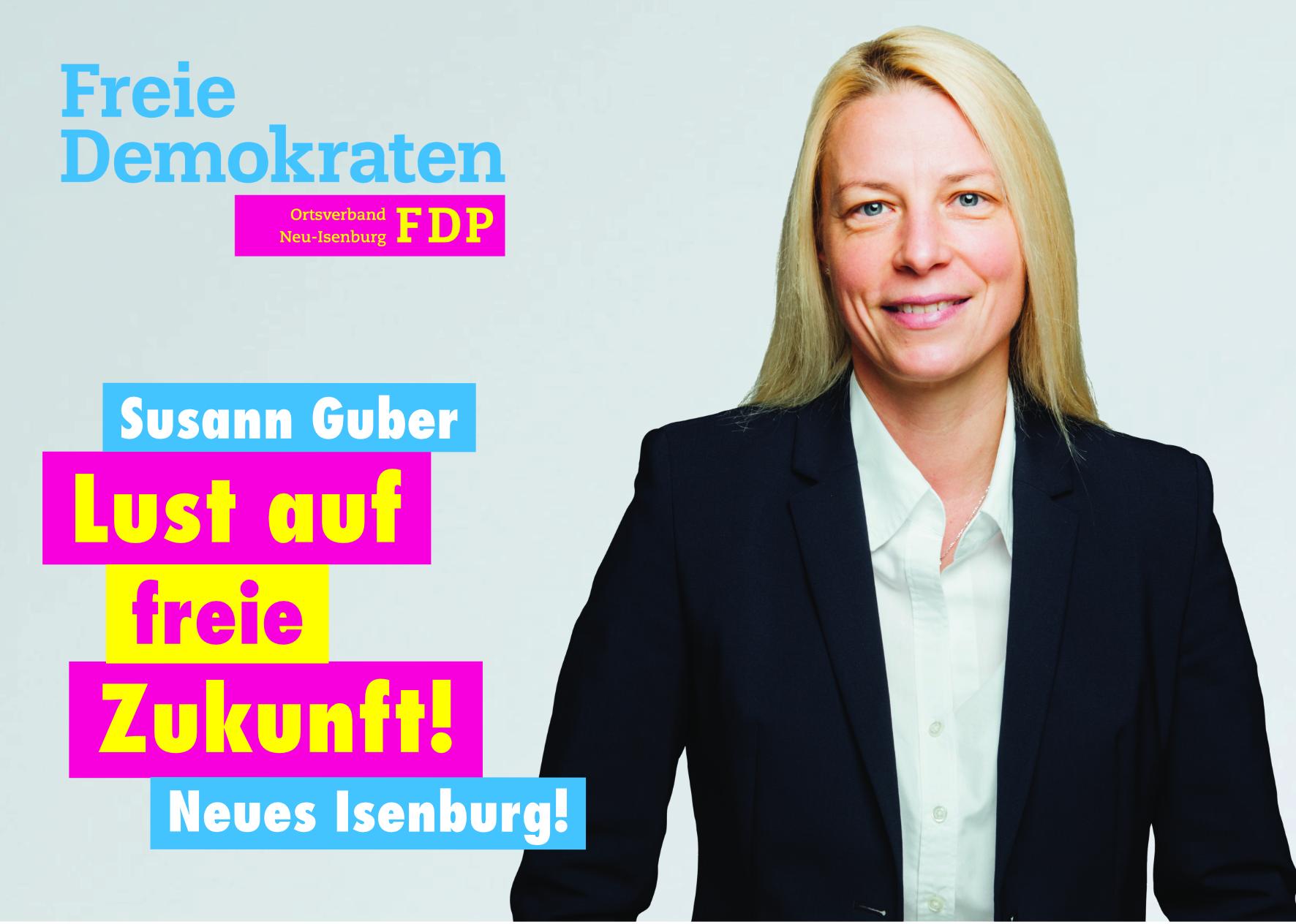 Susann Guber, Listenplatz 7. zur Kommunalwahl am 14. März 2021 in Neu-Isenburg.